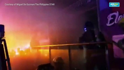 Basement of mall in Quezon City catches fire