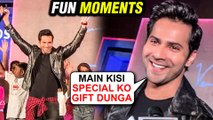 Varun Dhawan BEST And FUN Moments With MEDIA Reporters At The Launch Of Fossil Watch