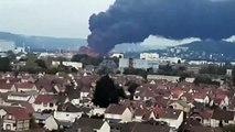 L'usine Lubrizol de Rouen en feu