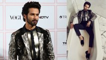 Vogue; Shahid Kapoor Turn Up The Heat in silver & black suit at Vogue Beauty Awards  , FilmiBeat