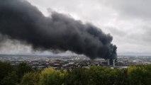 Incendie dans une usine à Rouen: les images de l'énorme panache de fumée au-dessus de la ville