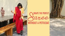 How To Wear Saree WITHOUT PETTICOAT | Raw Mango Sarees | Sanjay Garg