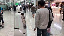 South Korean airport employs robots to greet and take selfies of visitors