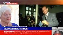 """Mort de Jacques Chirac: """"Beaucoup de chagrin, mais c'est mieux comme ça"""" déclare Line Renaud, en larmes"""
