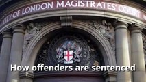 How are offenders are sentenced in UK courts?