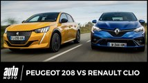 Peugeot 208 vs Renault Clio : essais et premier match en vidéo