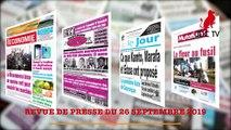 REVUE DE PRESSE CAMEROUNAISE DU 26 SEPTEMBRE 2019
