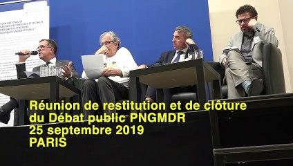 PNGMDR - Débat public - Réunion Restitution & clôture - 25 septembre 2019 - Intervention de Michel GUERITTE (La Qualité de Vie)