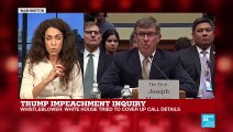Trump impeachment inquiry: Whistleblower says White House tried to cover up call details