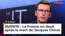 JT Breton du 26 septembre 2019 : La France en deuil après la mort de Jacques Chirac