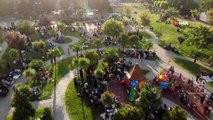 Zeytinburnu'nda vatandaşlar parklara akın etti.