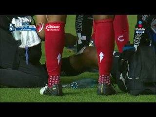 Mala jugada saca las lágrimas de Luis Romo   Querétaro vs Necaxa