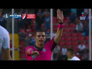 Anulan un gol de Ayron del Valle contra Necaxa   Querétaro vs Necaxa