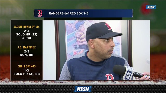 Red Sox Manager Alex Cora Praises Sandy Leon For His Adaptability