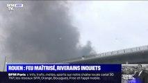 L'odeur, les dépôts de suie dans les jardins... L'inquiétude des habitants de Rouen après l'incendie de l'usine Lubrizol