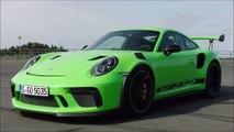 Presentation Porsche 911 (991-2) GT3 RS 2019 - Lizard Green - Pure engine sound !