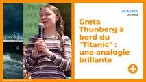 "Greta Thunberg à bord du ""Titanic"" : une analogie brillante"