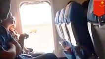 Wanita ini buka pintu darurat pesawat karena merasa sumpek - TomoNews