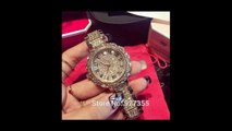 Expensive Luxury Gold Diamond Watches Designs For Women's And Ladies Royal Fashion Trend