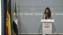 Portavoz de Unidas por Extremadura en rueda de prensa