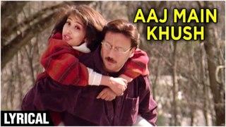 Aaj Main Khush Lyrical | Manisha Koirala, Jackie Shroff | Grahan | Abhijeet, Asha Bhosle