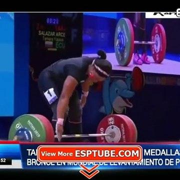 Tamara Salazar logra dos medallas de bronces en mundial de levantamiento de pesas - ESPTUBE.COM