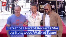 Terrence Howard Gets The Walk Of Fame Treatment