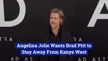 Angelina Jolie Comments On Brad Pitt's Friendship With Kanye West