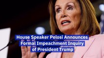 House Speaker Nancy Pelosi Calls For Trump Impeachment