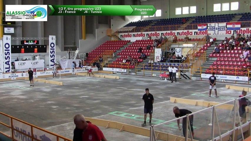 Demi-finales, tir progressif U23, Mondial Jeunes U18 et U23, Alassio 2019