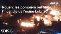 Incendie de Rouen: images de drone des pompiers
