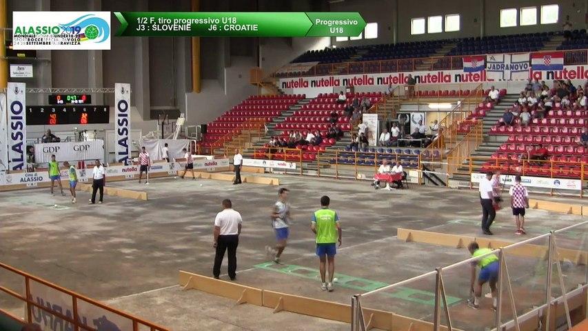 Demi-finales, tir progressif U18, Mondial Jeunes U18 et U23, Alassio 2019