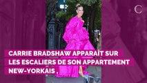 PHOTOS. Sarah Jessica Parker rend hommage à Carrie Bradshaw avec un look glamour à souhait et nous replonge dans l'ère Sex and the City