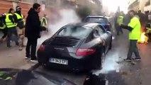 Un gilet jaune met le feu à la Porsche du chef Christian Etchebest… mais est remis en liberté par la justice