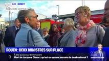 Rouen: Agnès Buzyn et Elisabeth Borne viennent d'arriver sur place