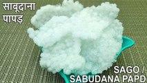 SABUDANA PAPAD RECIPE IN HINDI ENGLISH MARATHI| साबूदाना पापड |APPALAM|ENGLISH MARATHI SUBTITLE |