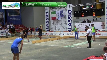 Demi-finales, tir rapide en double U23, Mondial Jeunes U18 et U23, Alassio 2019