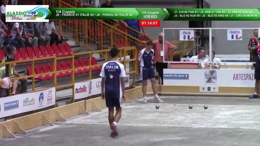 Quarts de finale double U18 et U23, Mondial Jeunes U18 et U23, Alassio 2019