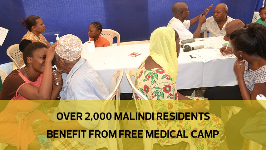 Over 2000 Malindi residents benefit from free medical camp