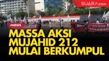 Bawa Bendera Tauhid, Massa Aksi Mujahid 212 Mulai Berkumpul di Bundaran HI