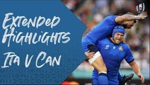 Extended Highlights : Italy v Canada - Rugby World Cup 2019