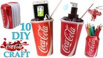 10 DIY COCA COLA Craft HOW TO! Recycling