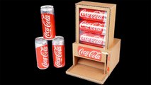 DIY Coca Cola Vending Machine from cardboard