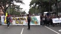 Kolombiya'nın başkentinde öğrenci protestosu
