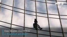 """""""Französischer Spiderman"""" erklimmt 150-Meter-Hochhaus in Frankfurt"""