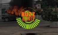 Buzz alerte : Un véhicule prend feu sur le VGE