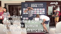 """Mondiaux d'athlétisme à Doha: """"une catastrophe"""", assure Kevin Mayer"""