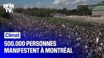 Climat: 500.000 personnes manifestent à Montréal