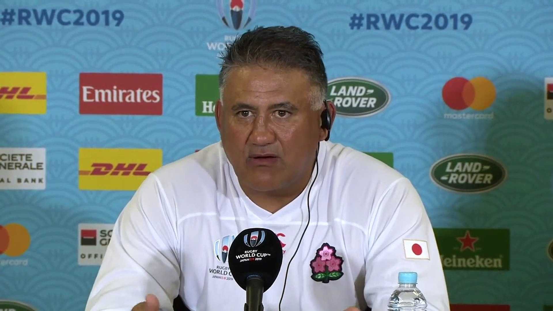 Rugby - Jamie Joseph on Japan's historic win over Ireland at Rugby World Cup 2019