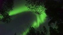 Des aurores boréales ont illuminé le ciel de la Laponie finlandaise